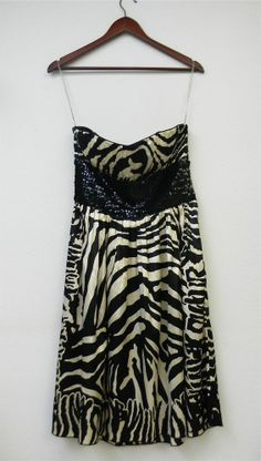 Women's Lyndia Sequin Strapless Animal Print Cocktail Party Prom Dress NWT #Lyndia #Cocktail