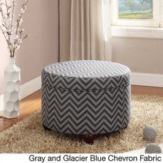 Kinfine Large Round Storage Ottoman | Overstock.com Shopping - The Best Deals on Ottomans
