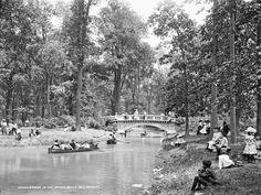 Bridge in the Woods, Belle Isle, Detroit 1900-1906  - Google Search