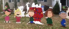 Peanuts Gang ! Charlie Brown, Snoopy and the Gang are ready to head over to your front yard For Chritmas! by HashtagArtz on Etsy