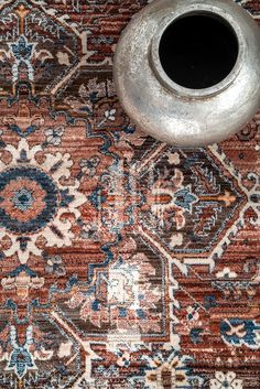 World Menagerie Cass Rust Area Rug Living Room Size, Living Room Area Rugs, Living Rooms, Mission Style Decorating, Persian Pattern, Affordable Rugs, Rugs Usa, Magic Carpet, Area Rug Sizes