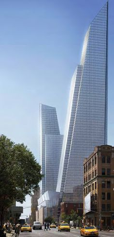 North Tower, Hudson Yards Development, 10th Avenue - 33rd Street, New York City by KPF Architects :: 80 floors, height 407m, office tower