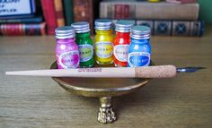Set of Pearlescent Calligraphy Inks by J. Herbin