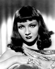 Claudette Colbert // Hair: red - Eyes: brown - Height: 164 cm - Background: English, French - Nationality: American, French