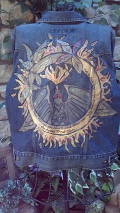 Hobbit Lord of the Rings hand painted denim by LooksFromBooks, $50.00