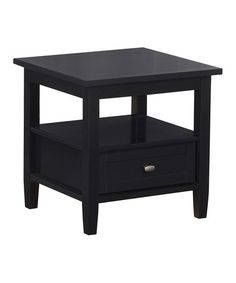 Black Warm Shaker End Table