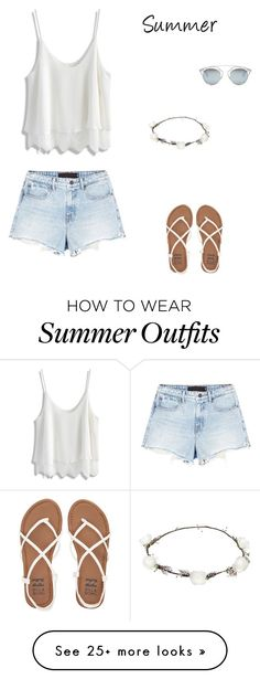 """Summer outfit"" by fashion-634 on Polyvore featuring Alexander Wang, Christian Dior, Lipsy, Billabong and Chicwish"
