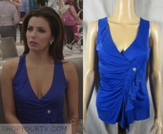 Desperate Housewives: Season 8 Episode 18 Gaby's Blue Ruffled Blouse