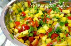 Pineapple salsa!