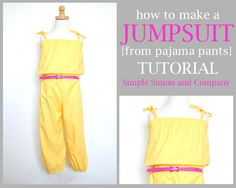 Jumpsuit Tutorial (from pajama pants!)
