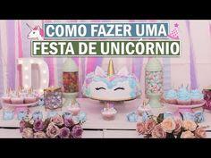 DIY: DECORAÇÃO DE FESTA DE UNICÓRNIO EM CASA   DAYANE NASCIMENTO - YouTube