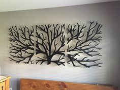 Metal Wall Art Decor Sculpture 3 Piece Tree Brunch Modern Fireplace Decor Tree of life - Tree Metal Wall Art – Abstract Wall Decor If you are looking for an original wall art to personal - Metal Wall Art Decor, Metal Tree Wall Art, Metal Art, Wood Art, 3d Wall, Modern Metal Wall Art, Modern Fireplace Decor, Wall Sculptures, Tree Sculpture