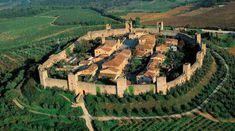 Monteriggioni vanuit de lucht