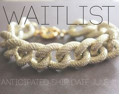 Chunky Gold Faux Pave Textured Chain Bracelet with Spring Clasp. $20.00, via Etsy.