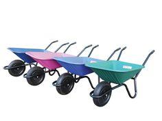 Super Barrow 90 litre wheelbarrow with a strong single piece frame and high…