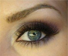 Prom make up perhaps?  Best makeup for hazel greenish eyes :  wedding eyelids green eyes hazel makeup purple skin wedding day Vegas Smokey