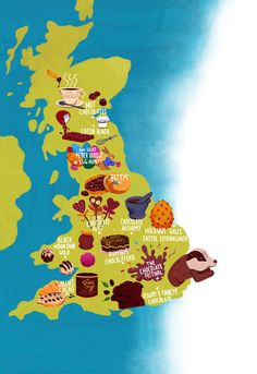 Chocolate map of United Kingdom