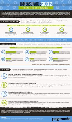 Unmeasurable Success - Getting to the ROI of Social Media