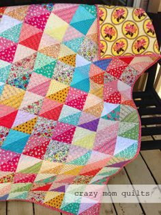 crazy mom quilts--with link to how to bleach fabrics