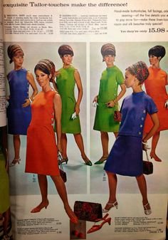 Beautiful Tailored Dresses from our Spring/Summer 1967 Spiegel Catalog