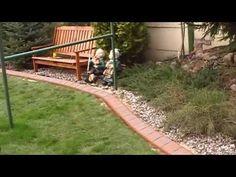 Obrzeza, palisady ogrodowe - YouTube
