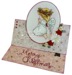 LOTV - Christmas Angels Praying by Annette Connelly Christmas Angels, Christmas Cards, Xmas, Digi Stamps, Lily Of The Valley, Easel, Birthday Cards, People, Inspiration