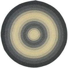 Hand-woven Reversible Multicolor Braided Rug (6' Round)
