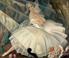 Gerda Wegener (Danish, 1886-1949), The Ballerina Ulla Poulsen in the Ballet Chopiniana, Paris, 1927