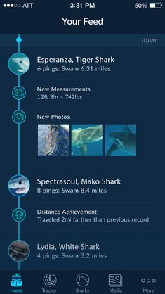 Shark Tracker - IOS App