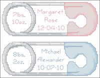 Diaper Pin Birth Announcement, from @Jan Fleener Corp.