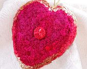 Heart Shaped Silk Plush - A Message of Hope Love Faith - Lovely gift for Wives and Hubbies