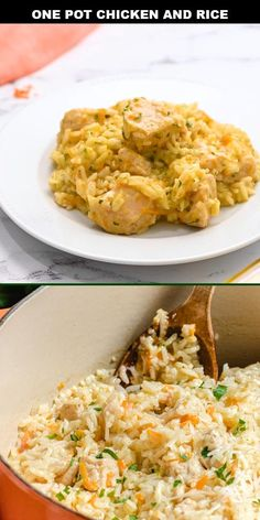 Chicken and rice is a one pot meal that provides a creamy, cheesy dinner for the entire family to enjoy. This chicken rice meal is a quick and easy to make dish that has an even quicker clean up. It's a delicious, hearty recipe and a go-to for those busy nights at home.