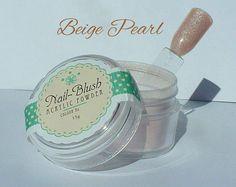 Acrylic nail powder Beige Pearl 15g by Nail-Blush by NailBlush on Etsy