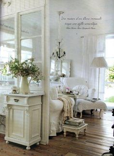 Window Living Room Whitewashed Cottage chippy shabby chic french country rustic swedish decor idea.. ***Pinned by oldattic ***.