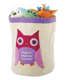 Look what I found on #zulily! Pink Owl Storage Bin by Whitmor #zulilyfinds