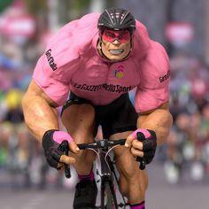 The fight for pink continues as the Giro d'Italia moves towards the mountains.  #giroditalia #giro #italia #italy #casco #cascoshades #cycling #fiat500 #gazzettadellosport #sako7socks