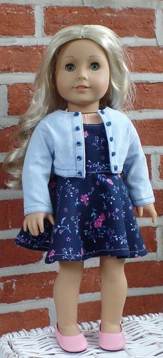 Hey, I found this really awesome Etsy listing at https://www.etsy.com/listing/399736529/american-girl-doll-clothes-floral-skater