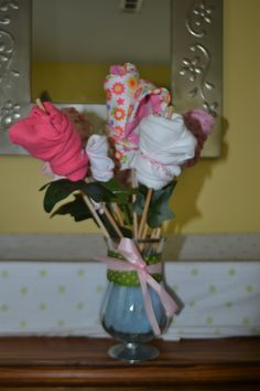 Baby Shower bouquet...good idea for a baby shower