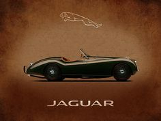 Jaguar Xk120 Print By Mark Rogan