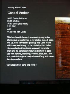 Amber cone 5 -7, Looks like a lovely glaze!