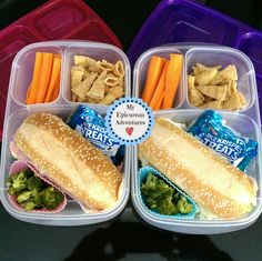 Sub sandwiches  | packed in @EasyLunchboxes containers