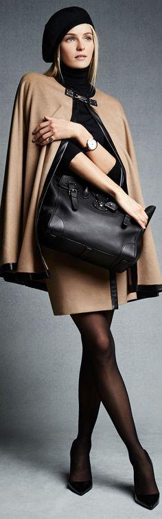 Ralph Lauren Ruth Skirt... classic colour combo: tan and black!