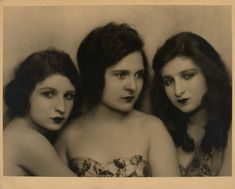 Marmein Dancers - Nickolas Muray, 1924 an American vaudeville act and early proponent of avant garde dance performed by the sisters: Irene, Miriam and Phyllis Marmein.