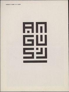 Angus 15 Jaar by Mark Manders, 2001