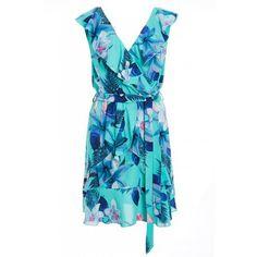 Quiz Ladies Aqua and Pink Floral Wrap Dress - Aqua   Buy Online in South Africa   takealot.com Wrap Dress Floral, Aqua, Summer Dresses, Lady, South Africa, Pink, Stuff To Buy, Fashion, Moda