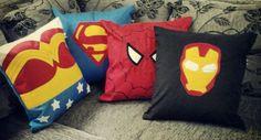 Almofadas artesanais de personagens