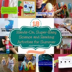 18 Hands-On, Super-Easy Science and Reading Activities for Summer plus a $1,500 Cash Giveaway! ~ Schooling a Monkey