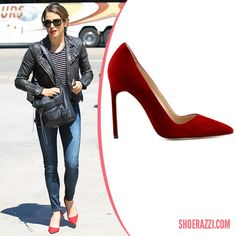 Nikki Reed in Manolo Blahnik Red Suede BB Pointed-Toe Pumps Nikki-Reed-Spotted-Los-Angeles-September-2014