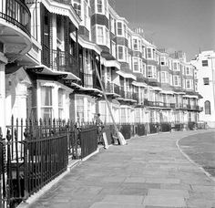 The Royal Crescent, Brighton, East Sussex. Brighton Rock, Brighton And Hove, Seaside Shops, Worthing, East Sussex, Running Away, Vintage Photos, Past, Rocks