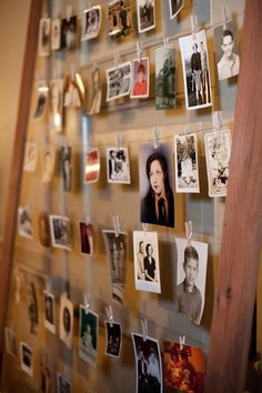 This is an option on how to display some old family photos I have... Maybe put on stairwell wall...